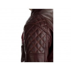 Blouson RST Brandish CE cuir rouge taille S homme
