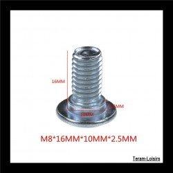 6 Vis M8 X 16 mm pour...