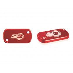 Couvercle de maître-cylindre S3 large rouge AJP