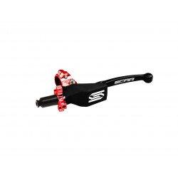 Levier repliable + cocotte universel SCAR noir - molette rouge