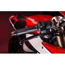 Levier de frein repliable/réglable LIGHTEC Alien alu inserts caoutchouc noir - LEVD122K Yamaha YZF-R1