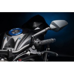 Levier de frein repliable/réglable LIGHTEC Alien alu inserts caoutchouc noir - LEVD128K Honda CB1000R