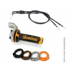 Kit poignées DOMINO KRK Evo avec câbles revêtements noir/orange