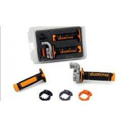 Poignée de gaz DOMINO KRK orange KTM Husqvarna