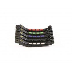 Kit levier repliables/reglables LIGHTECH Alien avec inserts caoutchouc noir Yamaha