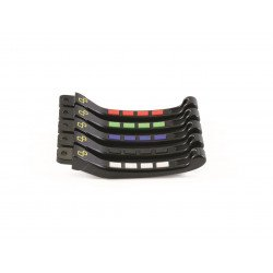 Kit levier repliables/reglables LIGHTECH Alien avec inserts caoutchouc noir Kawasaki