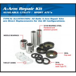 Kit reconditionnement de triangle Supérieur ALL BALLS Can Am Commander 800/XT/Max/DPS