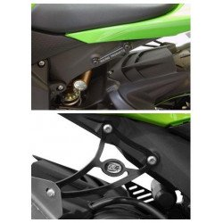 Kit suppression repose-pieds arrière R&G RACING noir Kawasaki ZX6R/RR