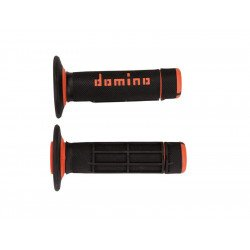 Revêtements DOMINO A020 Bicolore MX semi-gaufré noir/orange