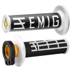Revêtements ODI Emig V2 Lock-On noir/blanc