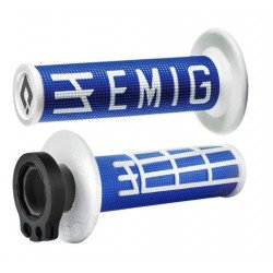 Revêtements ODI Emig V2 Lock-On bleu/blanc
