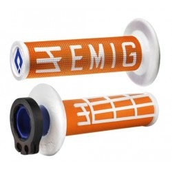 Revêtements ODI Emig V2 Lock-On orange/blanc