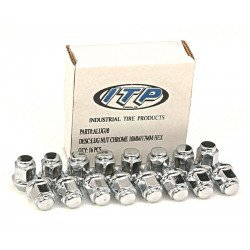 Kit écrou de roue ITP plat chrome 10x1.25 - Box of 16