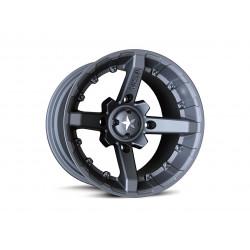 Jante utilitaire MSA WHEELS M23 Flat noir aluminium noir mat 14X7 4X156 4+3