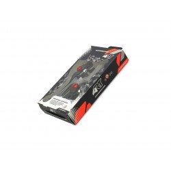 Leviers repliables ART noir/vis rouge par paire Honda CRF250R/450R/RX