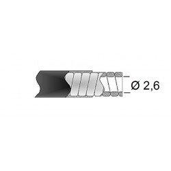 Gaine de frein 26/10 TRANSFIL fil plat noir rouleau 30m