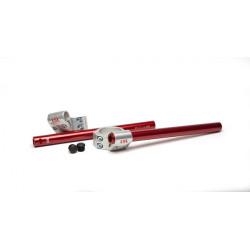 Guidons bracelets relevés LSL Speed Match position intermédiaire argent Triumph Thruxton 900