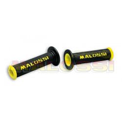 Revêtements MALOSSI Cup full grip noir/jaune embouts ouverts