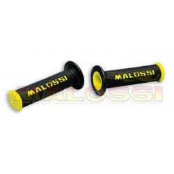 Revêtements MALOSSI Cup full grip noir/jaune embouts fermés