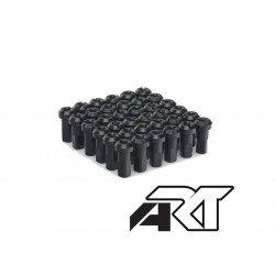 Kit têtes de rayon universel anodisées A.R.T noir