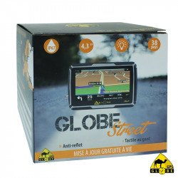 GPS Globe Street - étanche IP67 - Ecran 4,3 pouces - Carte Europe