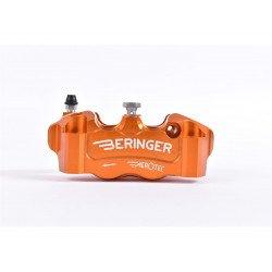 Etrier de frein radial gauche BERINGER Aerotec® 4 pistons Ø32mm entraxe 100mm orange