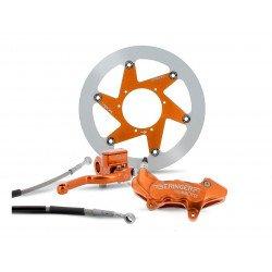 "Kit freinage BERINGER Top Race roue 16"" étrier Aerotec® radial 4 pistons orange KTM/Husqvarna"