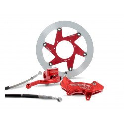 "Kit freinage BERINGER Top Race roue 17"" étrier Aerotec® axial 6 pistons rouge Suzuki RM-Z250/450"