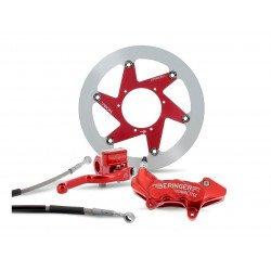"Kit freinage BERINGER Top Race roue 17"" étrier Aerotec® axial 6 pistons rouge Kawasaki KX/KXF"