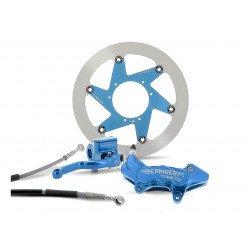 """Kit freinage BERINGER Top Race roue 17"""" étrier Aerotec® axial 6 pistons bleu Yamaha YZ/YZF/YZFX"""