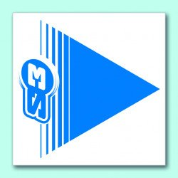 Flèches de signalisation S3 bleu 50 pièces 12x12cm