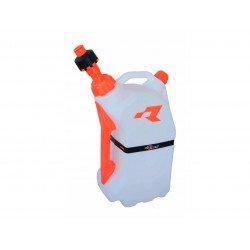Bidon d'essence RACETECH remplissage rapide 15L translucide/orange