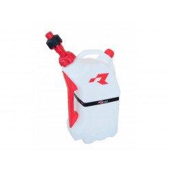 Bidon d'essence RACETECH remplissage rapide 15L translucide/rouge