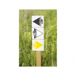 Flèches de signalisation S3 blanc 50 pièces 12x12cm