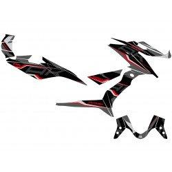 Kit déco KUTVEK Energy noir/rouge Kymco AK 550