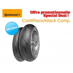 Train de pneus Racing CONTINENTAL ContiRaceAttack Comp. (120/70 ZR 17 Medium + 180/55 ZR 17 Endurance)
