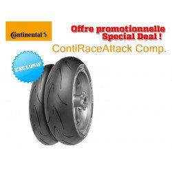 Train de pneus Racing CONTINENTAL ContiRaceAttack Comp. (120/70 ZR 17 Medium + 160/60 ZR 17 Medium)