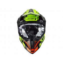 Casque JUST1 J12 Dominator Red/Neon Lime taille M