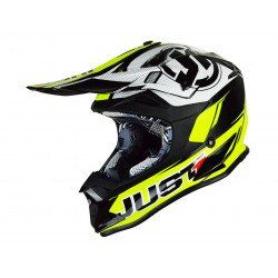 Casque JUST1 J32 Pro Rave Black/Neon Yellow taille XS
