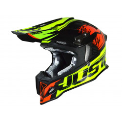 Casque JUST1 J12 Dominator Red/Neon Lime taille L