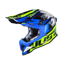 Casque JUST1 J12 Dominator Blue/Neon Yellow taille XL