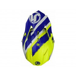 Casque JUST1 J32 Pro Kick White/Blue/Yellow Gloss taille XL