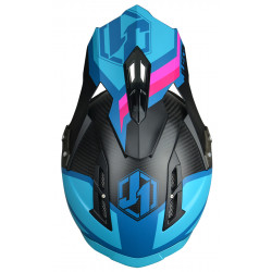 Casque JUST1 J12 Unit Blue/Pink taille XS