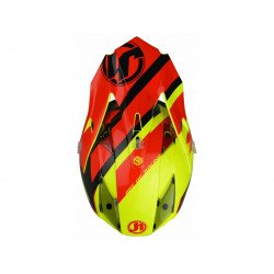 Casque JUST1 J32 Pro Kick Black/Red/Yellow Gloss taille S