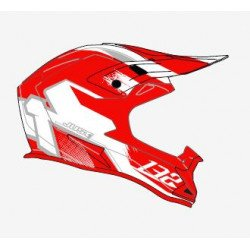 Casque JUST1 J32 Pro Kick White/Red Matte taille XL