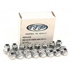 Kit écrou de roue ITP conique chrome 3/8-24 - Boîte de 16