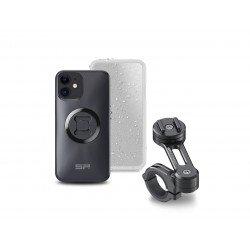 Pack complet SP-CONNECT Moto Bundle fixé sur guidon iPhone 12 Mini