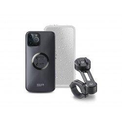Pack complet SP-CONNECT Moto Bundle fixé sur guidon iPhone 12 Pro/12