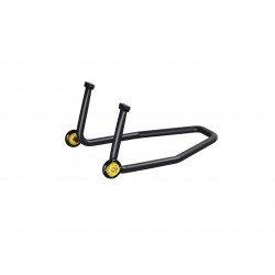 Béquille arrière LIGHTECH support caoutchouc noir 2 roues
