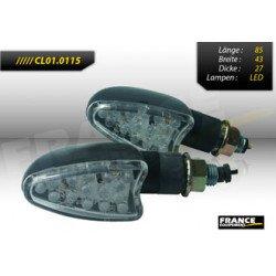 Paire de clignotants, tige courte, ampoule LED.
